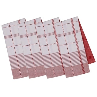 Radish Plaid Dishtowel Set