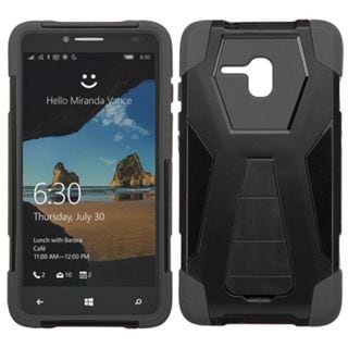 Insten Hard PC/ Silicone Dual Layer Hybrid Case Cover with Stand for Alcatel One Touch Fierce XL