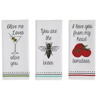 Love You Printed Dishtowel Set
