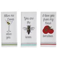 Love You Printed Dishtowel Set