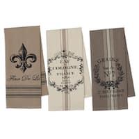 French Grain Sack Printed Dishtowel Set