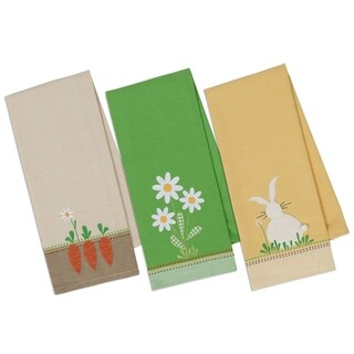 Spring Garden Embellished Dishtowel Set