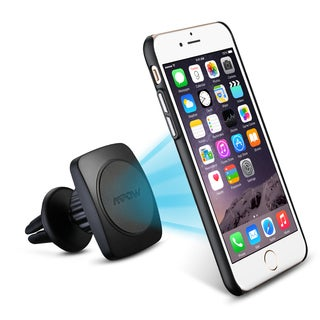 Mpow Grip Magic Air Vent 360-degree rotation Car Mount Holder with Built-in Metal Plate Iphone 6/6s Case and 2 Metal Plates