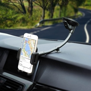 Mpow Grip Flex Windshield 8.66 inches Long Arm Car Holder with Extra Dashboard Base and Dual Strong Suction