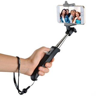 Mpow iSnap Y One-piece Portable Self-portrait Monopod Extendable Selfie Stick with built-in Bluetooth Remote Shutter..