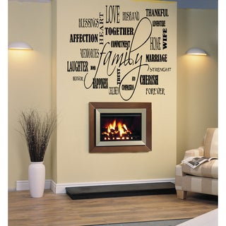 Link to Family Collage quote Wall Art Sticker Decal Similar Items in Vinyl Wall Art