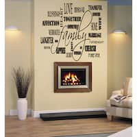 Family Collage quote Wall Art Sticker Decal