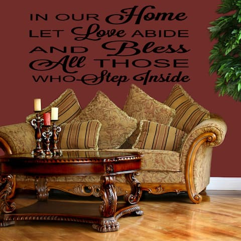 Let Love Abide quote Wall Art Sticker Decal