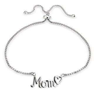 Mondevio Silver Mom and Heart Adjustable Slider Bracelet|https://ak1.ostkcdn.com/images/products/11504993/P18456390.jpg?_ostk_perf_=percv&impolicy=medium