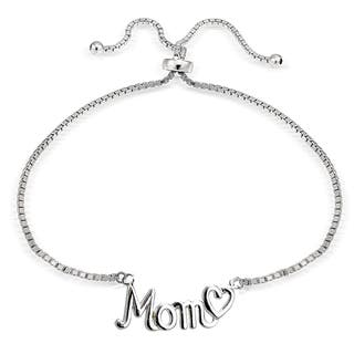 Mondevio Silver Mom and Heart Adjustable Slider Bracelet|https://ak1.ostkcdn.com/images/products/11504993/P18456390.jpg?impolicy=medium
