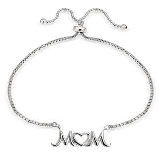 Mondevio Silver Mom Open Heart Adjustable Slider Bracelet|https://ak1.ostkcdn.com/images/products/11504997/P18456392.jpg?impolicy=medium