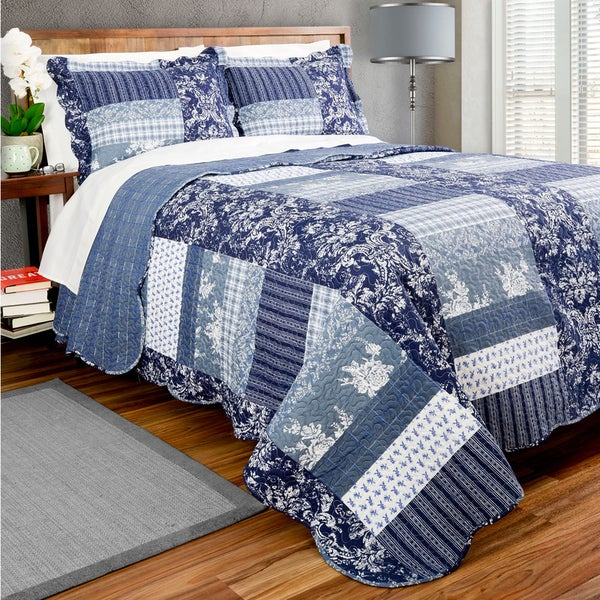 Slumber Shop Tiffany Square Patch Quilt Set