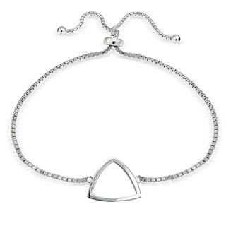 Mondevio Silver Fancy Triangle Adjustable Slider Bracelet (3 options available)
