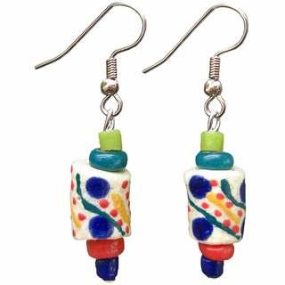 Handmade Global Mamas Festival Rainbow Earrings (Ghana)