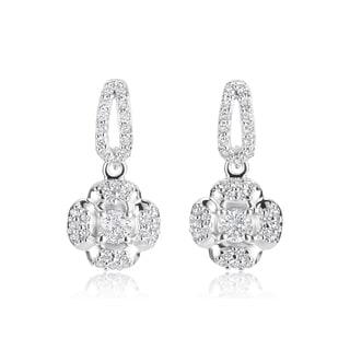 Andrew Charles 14k White Gold 3/4ct TDW Diamond Dangling Earrings (H-I, SI1-SI2)