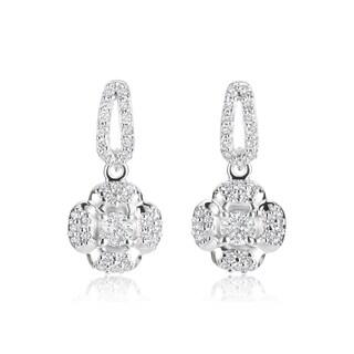 Andrew Charles 14k White Gold 3/4ct TDW Diamond Dangling Earrings