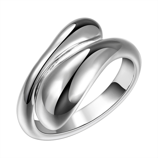 Vienna Jewelry Sterling Silver Open Matrix Petite Resizable Ring