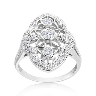 Andrew Charles 14k White Gold 1/2ct TDW Diamond Antique Ring (More options available)