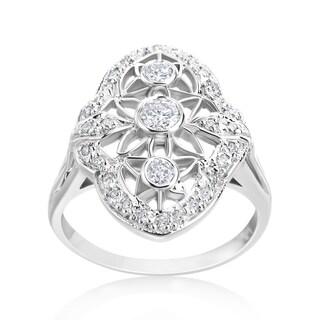 Andrew Charles 14k White Gold 1/2ct TDW Diamond Antique Ring