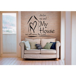We Will Serve the Lord My house Wall Art Sticker Decal