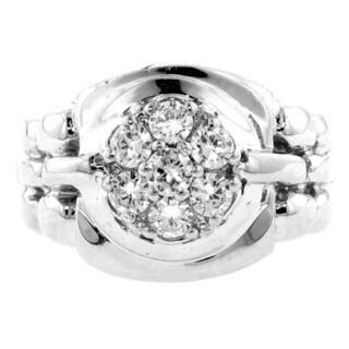 14k White Gold Men's 3/4ct TDW Diamond Ring (G-H, SI1-SI2)