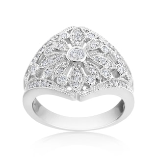 Andrew Charles 14k White Gold 1/2ct TDW Antique Diamond Ring (H-I, SI1-SI2)