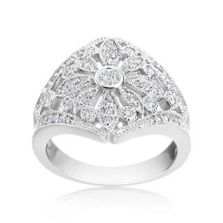 Andrew Charles 14k White Gold 1/2ct TDW Vintage Diamond Ring