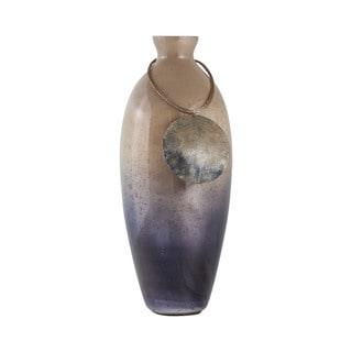 Sterling Home Vase Cuzco 18-Inch Glass Vase In Fire Clay