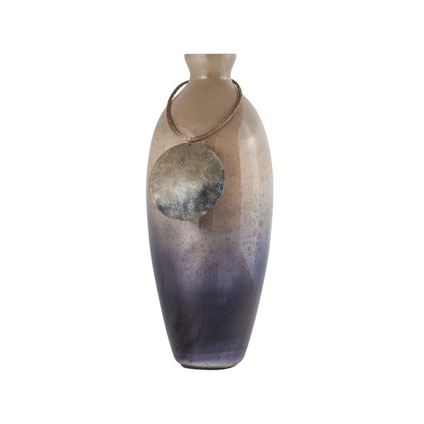 Sterling Home Vase Cuzco 16-Inch Glass Vase In Fire Clay