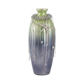 Sterling Home Vase Corfu 16-Inch Glass Vase In Pampas Green