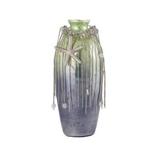 Sterling Home Vase Corfu 12-Inch Glass Vase In Pampas Green