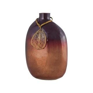 Sterling Home Vase Catalonia 12-Inch Glass Vase In Marsala