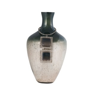 Sterling Home Vase Kairos 14-Inch Glass Vase In Slate