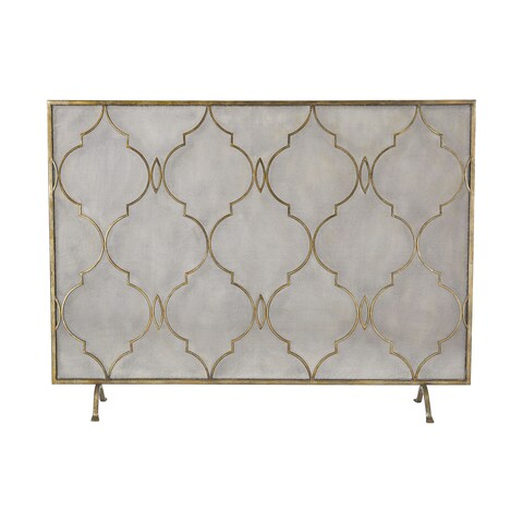 Dimond Home Agra Antique Gold 34-Inch Metal Fire Screen