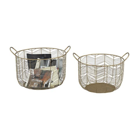 Dimond Home Tuckernuck 2-Piece Metal Bowl Set in Gold