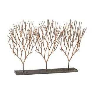 Dimond Home Prairie Coppery Ombre with Dark Bronze 13-Inch Metal with Resin Botanical Stand