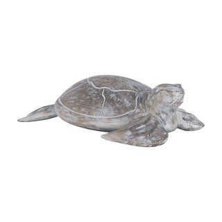 Dimond Home Galapagos Turtle White Washed Albasia Wood