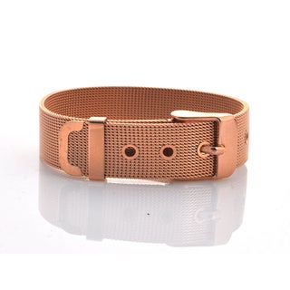 Mesh Bracelet with Buckle - Rose Gold