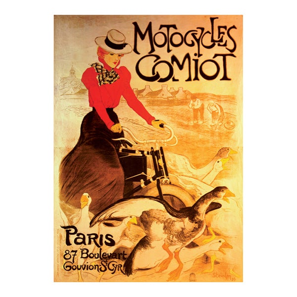 Motocycles Comiot Vintage Poster Jigsaw 1000-piece Puzzle