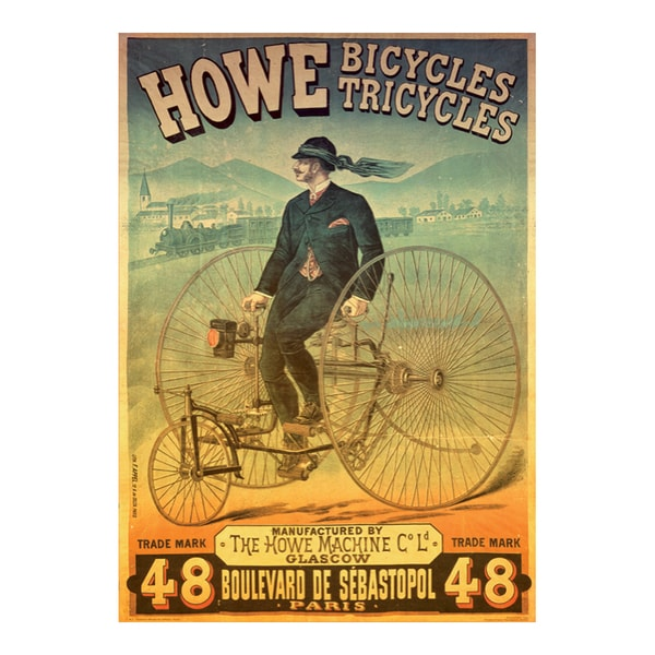 Howe Bicycles - Vintage Poster Jigsaw Puzzle: 1000 Pcs