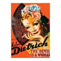Marlene Dietrich Vintage Poster Jigsaw 1000-piece Puzzle