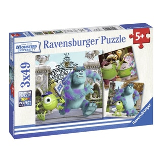 Disney Pixar Monsters University Mike and Sully 3x49-piece Puzzle
