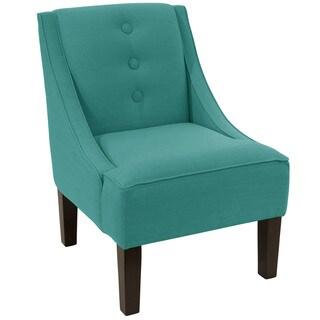 Skyline Furniture Linen Laguna 3-button Swoop Arm Chair