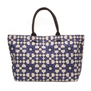 Deep Purple Flower Tote Bag
