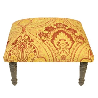 Corona Décor Belissimo Paisley Design Red/Gold Footstool