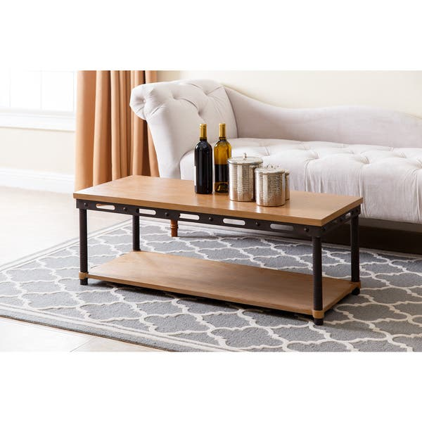 Shop Abbyson Northwood Industrial Rustic Coffee Table Free