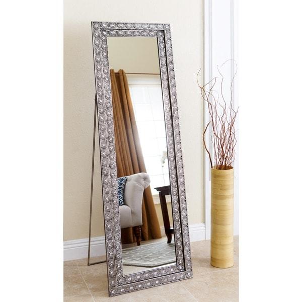 floor mirror. Abbyson Melania Floor Mirror - Silver