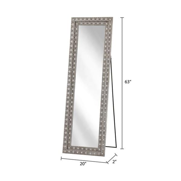 Abbyson Melania Bohemian Silver Floor Mirror