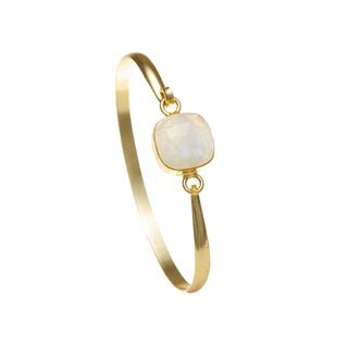 Gold Overlay Moonstone Bangle