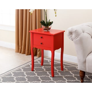 Abbyson Red Larsa Tea End Table